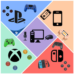 collage gaming playstation xbox switch pc freetoedit