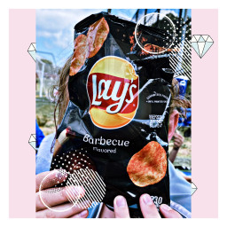 freetoedit chips lays barbecue thefoodilove