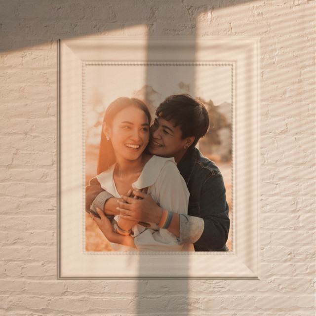 #freetoedit #goldenhour #couple #frame #replay #wallpicture #wall #shadow