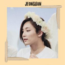 jeonghan jeonghanedit jeonghanseventeen flowers whiteroses freetoedit