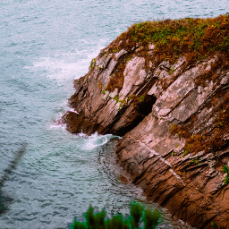 cliff nature travel beach sea freetoedit