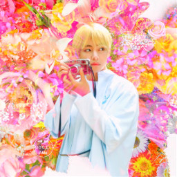 freetoedit flower aesthetic tumblr taehyung