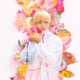 freetoedit aesthetic flower taehyung army