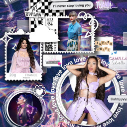 arianagrande camillacabello taylorswift aestheticedit purple freetoedit