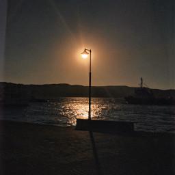 streetphotography street streetlight sea sun