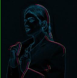 freetoedit neon portait people women