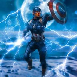 captainamerica lightning moon hammer shield