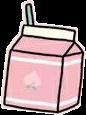 freetoedit carton drink pink cute