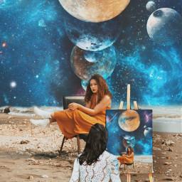 freetoedit moon universe art planets fcexpressyourself