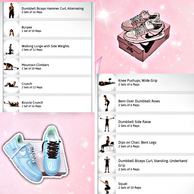 #freetoedit #daily #exercise #chart #schedule #shoes