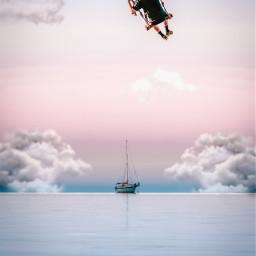 freetoedit swing boy swinging cloud