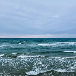 blue ocean northsea rough waves
