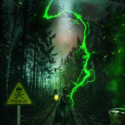 freetoedit chemicals toxic lightning green