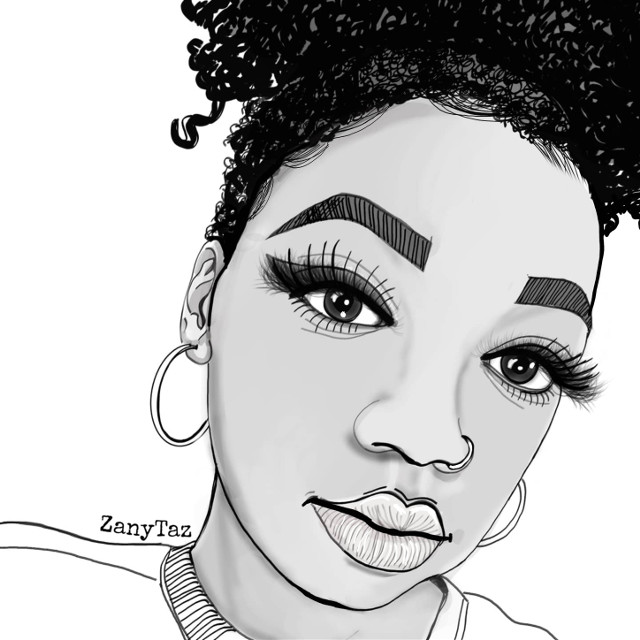 Sometimes #simple is better 💓✌️ A #portrait of @theebratt__ #closeupshot #faceart ___________ #outline #outlineart #trendygirl #sketch #girl #faceart #art #illustrationart #swaggirl   #bratt #young #beauty #portraitdrawing #coolgirl #inspired #selflove #fiercelook #mydrawing #zanytaz #drawtool #face  #madewithpicsart #heypicsart @picsart 💓☺️🌿👋Thank you all in advanced! You are awesome!!  #freetoedit