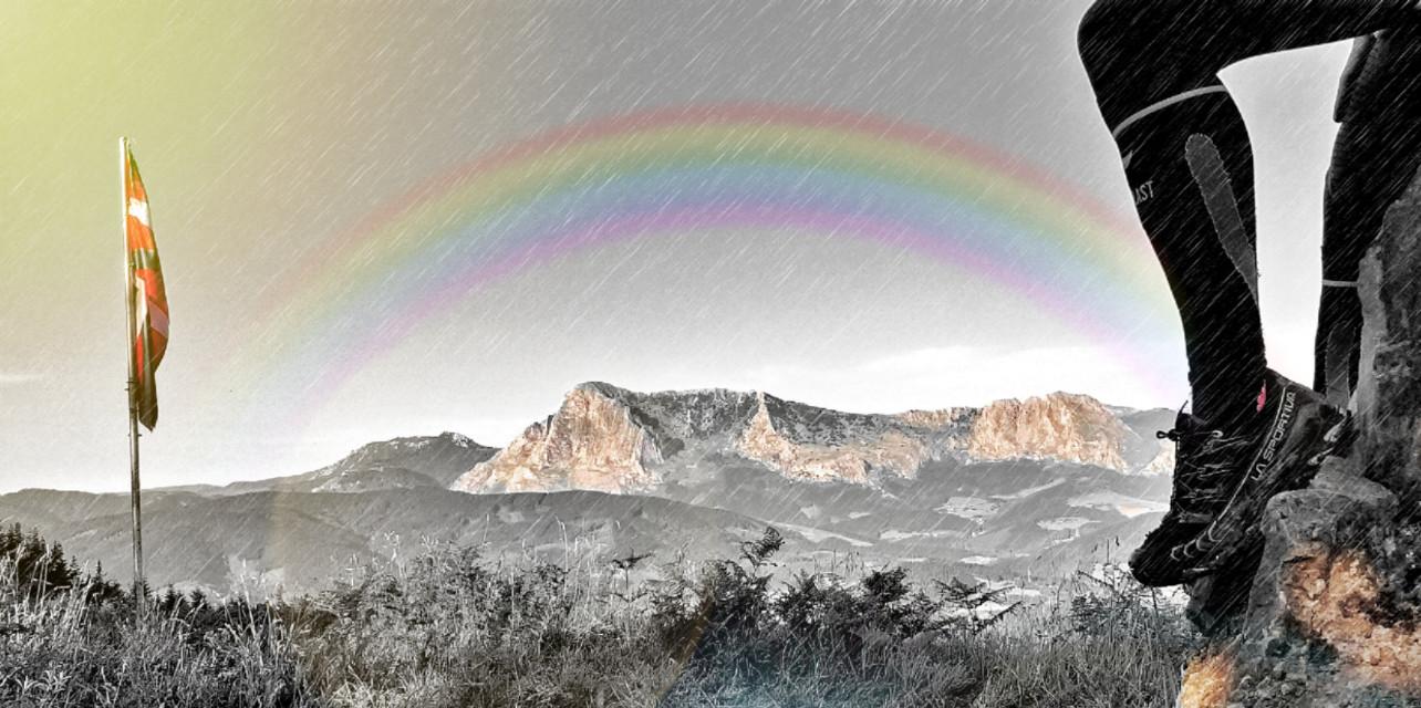 #freetoedit  #mountain #rainbow #lasportiva #sport #edit #picsart