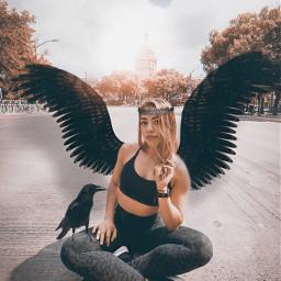 raven girl phtography heypicsart papicks freetoedit