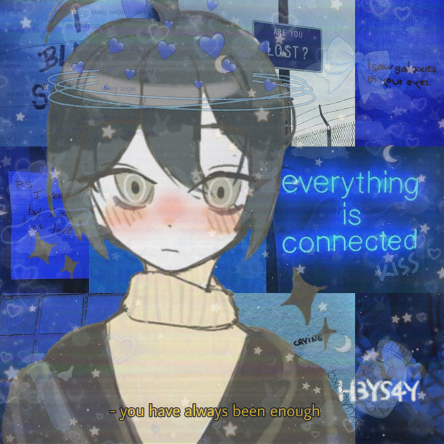 #freetoedit another one with all the same stickers, filters, and background but the only different is that it's different art #shuichisaihara #shuichi #saiharashuichi #saihara #danganronpa #danganronpav3 #hahailiketagging