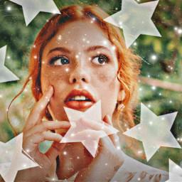 freetoedit edit girl ruiva star rcsilverstars silverstars