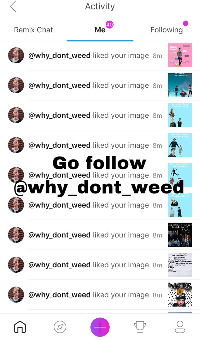 Thanks for the spam @why_dont_weed !! ✨🔥🖤