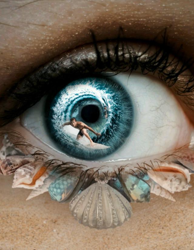 #freetoedit 😎💜😎 #myedit #eye #beach #papicks #shells #eyeedit