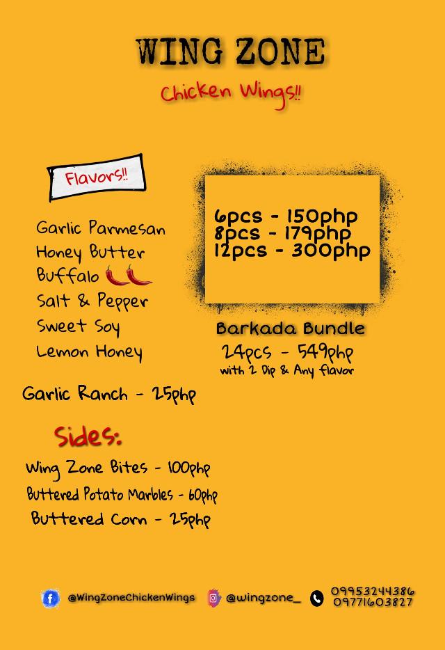 Revised menu