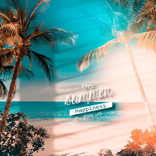 #freetoedit summer #palms #madewithpicsart  🌴☀⛅🌞