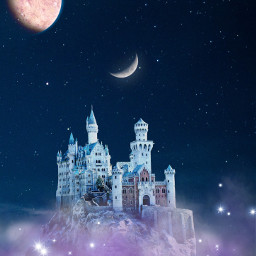 freetoedit fantasy castle fog planets