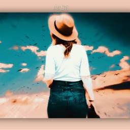 freetoedit amazing sky woman photostory