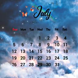 freetoedit july clouds calender sparkles srcjulycalendar julycalendar