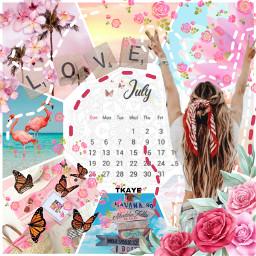 july calendar girl woman pink srcjulycalendar julycalendar