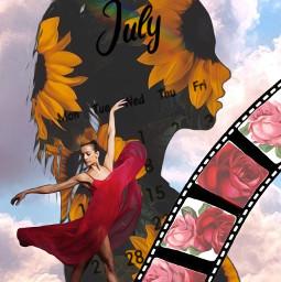 freetoedit july calendar shilouette filmstrip srcjulycalendar julycalendar