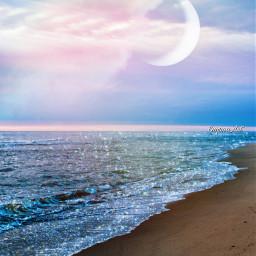 sparkle beach moon simpleedit madewithpicsart freetoedit