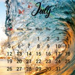 freetoedit julycalendar 2020 julycalendar2020 oceanwaves srcjulycalendar