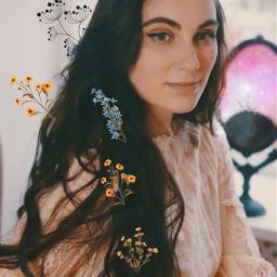 freetoedit girl hair beauty flowers