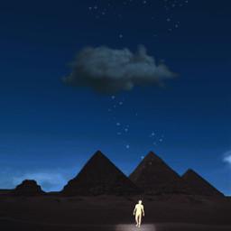 stars man space egypt