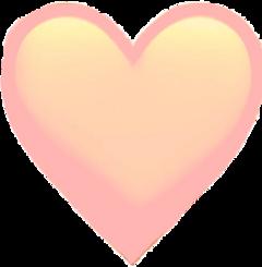 freetoedit peach aesthetics heart heartemoji