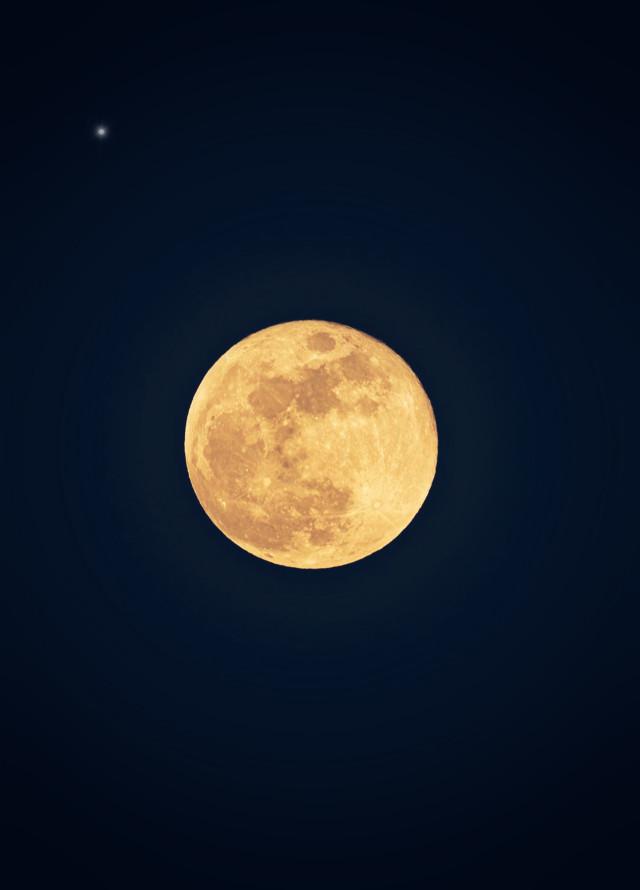 #themoontonight #fullmoon #themoonlightdreamer #moonlight #magicmoon #themoon #misterious and #fascinating #goldenmoon #nightphoto #moonphotography   #freetoedit
