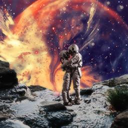 freetoedit space austronaut love worlds