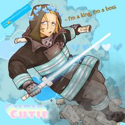 fireforce anime king arthur kingarthur freetoedit