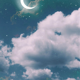 freetoedit background cloudsbackground skybackground moonbackground