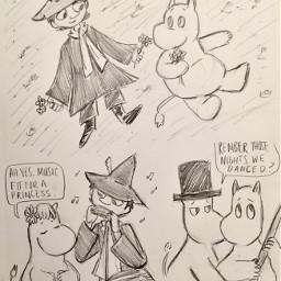 moomin moomins moominvalley snufkin doodles