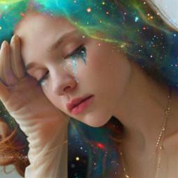 galaxyhair galaxytears freetoedit
