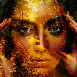 myedit multilayer colorchange nature portrait freetoedit