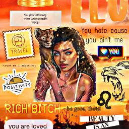 freetoedit leo zodiacsigns moodboards orangeaesthetic