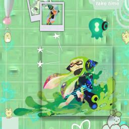 agent3 pastelgreen aesthetic splatoon freetoedit