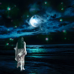 freetoedit surreal artisticedit moon night