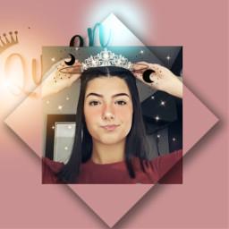 freetoedit queen charlidemelio crown