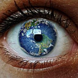 freetoedit eye galaxy space earth