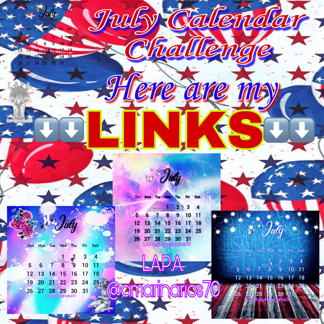 Here are my links to   July Calendaer   If you like them go vote for them i would really be thankful      https://picsart.com/i/331893130050201?challenge_id=5efc5a815e629b4ef549bb94  https://picsart.com/i/331893470007201?challenge_id=5efc5a815e629b4ef549bb94  https://picsart.com/i/331893883063201?challenge_id=5efc5a815e629b4ef549bb94 Thanks in advance   #mybackground #mywork #myediting #editedbyme #editedbyLAPA@amarinarios70 #july #illustration #digitalart #artist #photography #photographer #photooftheday   @amarinarios70  #freetoedit