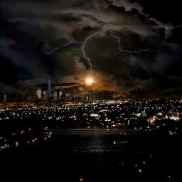 freetoedit citynight citylights cityscape fullmoon